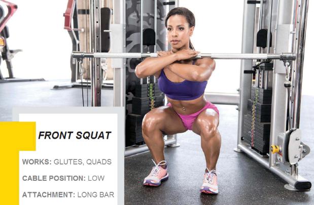 Front Squats.