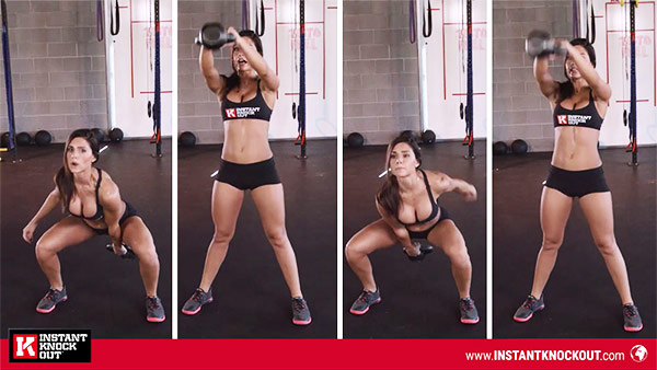Alexia-clark-kettlebell-swings-exercises for flat stomach