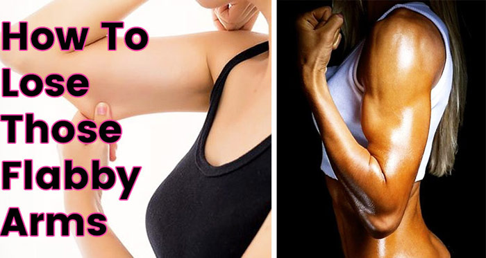 two girls showing how to lose those flabby arms