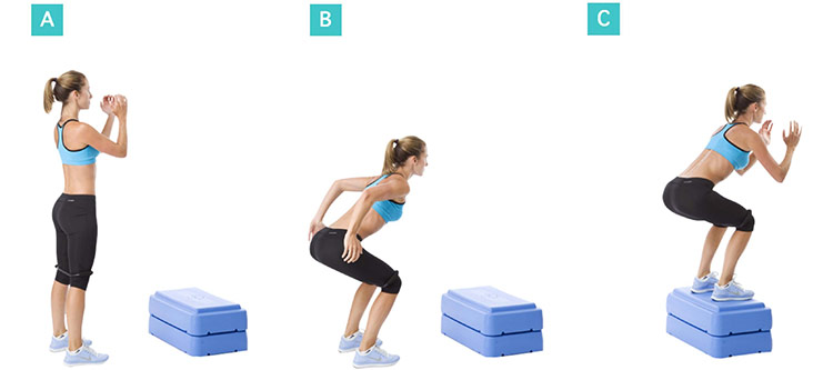 scarlett johansson performing box jumps during her workout