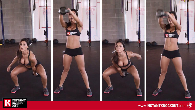 alexia clark perfoming exercises as one of the best female fitness youtubers
