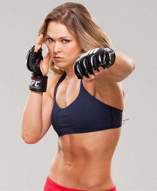 one of the most inspirational female athletes ronda rousey