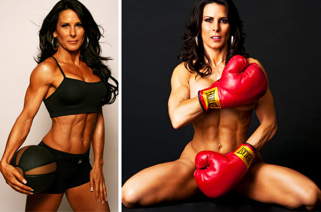 Laura London female fitness model over 40