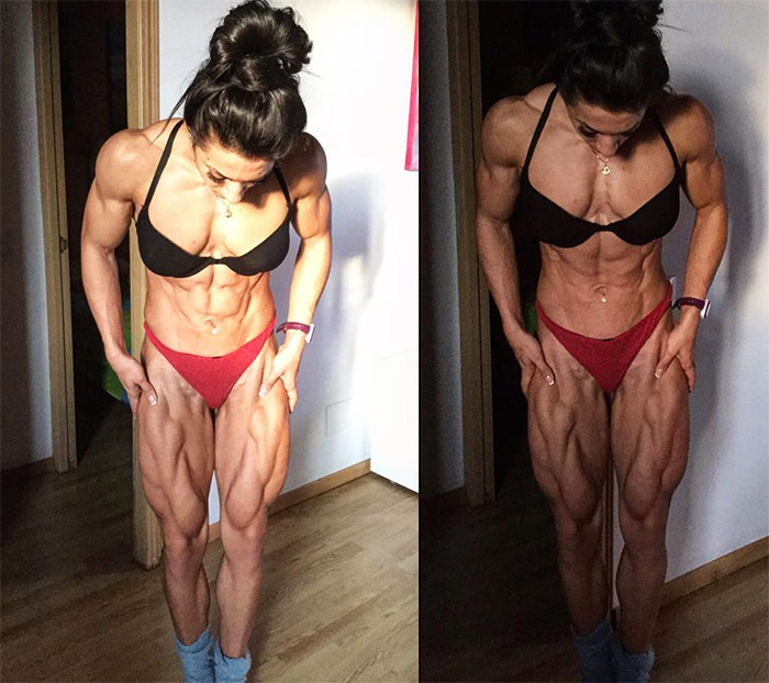 Valentina Mishina one of the female fitness models with the biggest & hottest legs