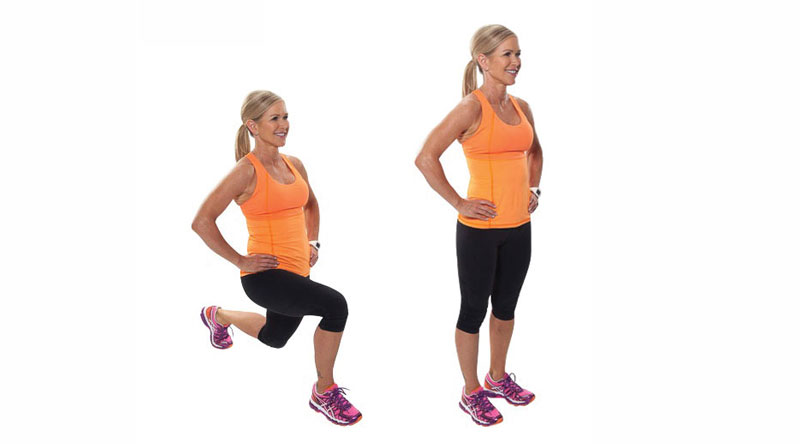 Body weight reverse lunge
