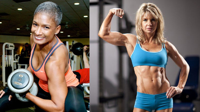Female building muscle after 50