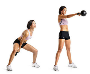 Kettlebell swing technique and form