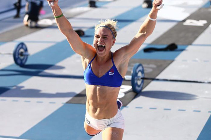 Picture of Katrin Tanja Davidsdottir winning the CrossFit games 2016
