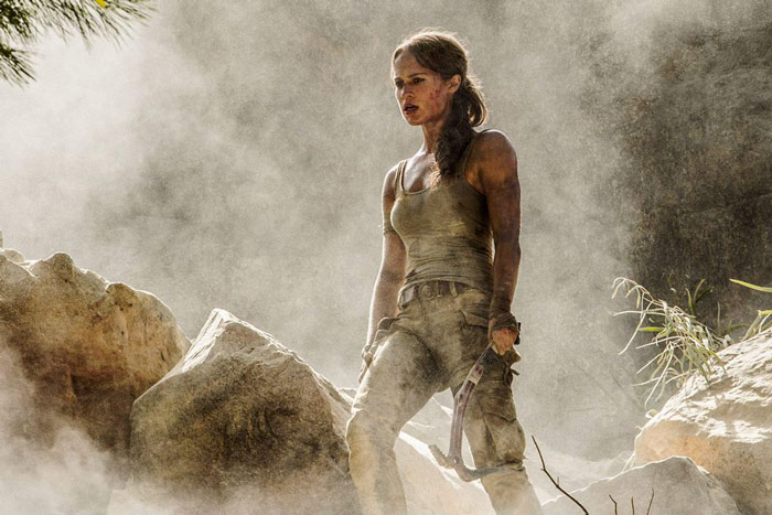Tomb Raiders Alicia Vikander as lara croft in latest movie