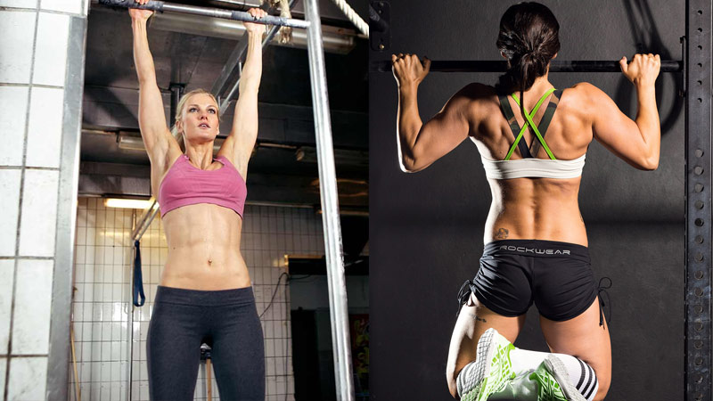 Ultimate Female Pull Up Program two female athletes performing pull up variations