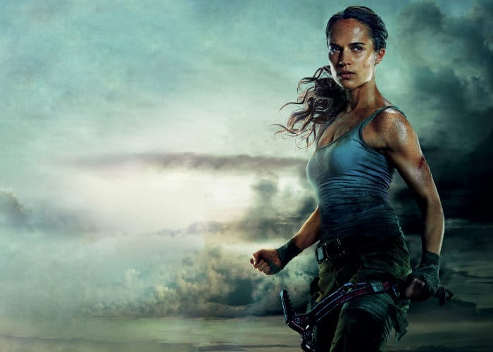 tomb raider movie poster featuring alicia vikander