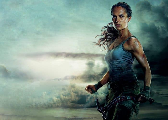 tomb raider movie poster featuring alicia vikander