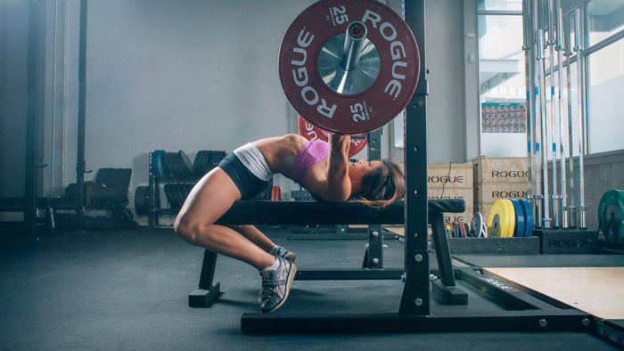 woman athlete strength training