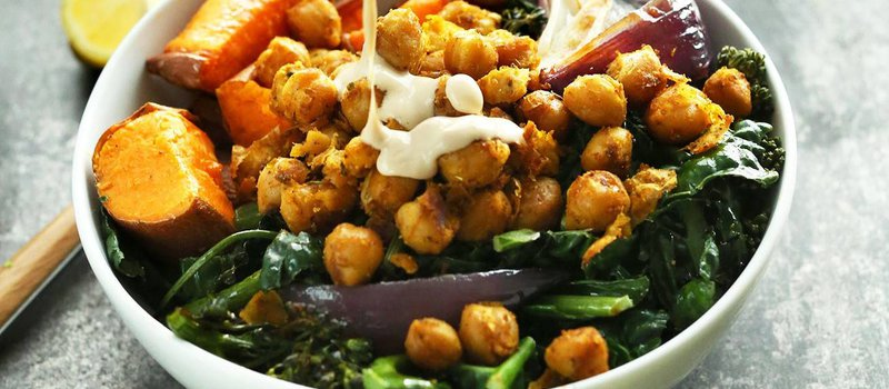 Sweet potato chickpea bowl