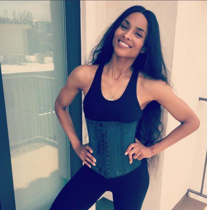 ciara wearing a waist trainer