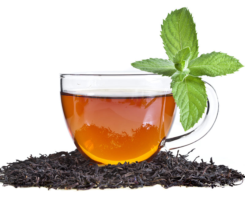 AfterDrink L-Theanine ingredient shown in tea leaves