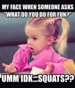 Squats for fun