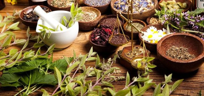A selection of natural ingredients
