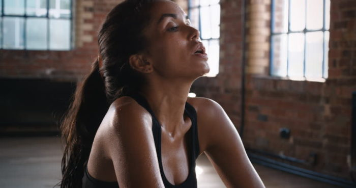 woman tired after workout