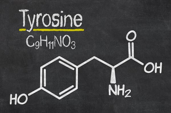 L-tyrosine amino acid molecular structure