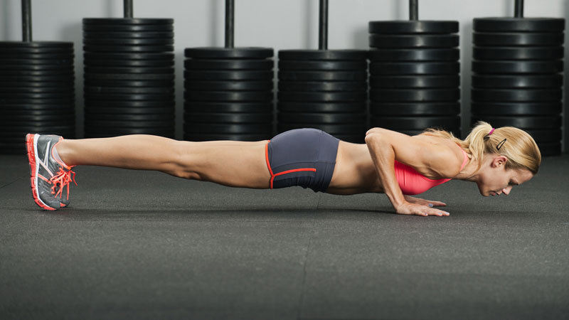 Bodyweight Chest Workout for Women 1