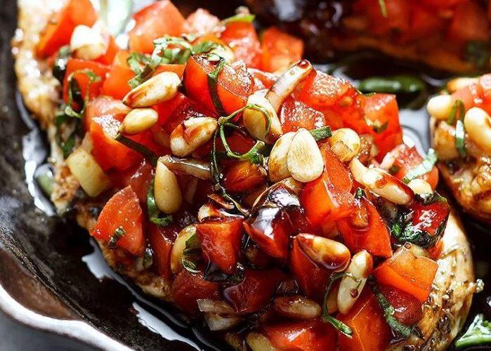 healthhy chicken breast bruschetta recipes