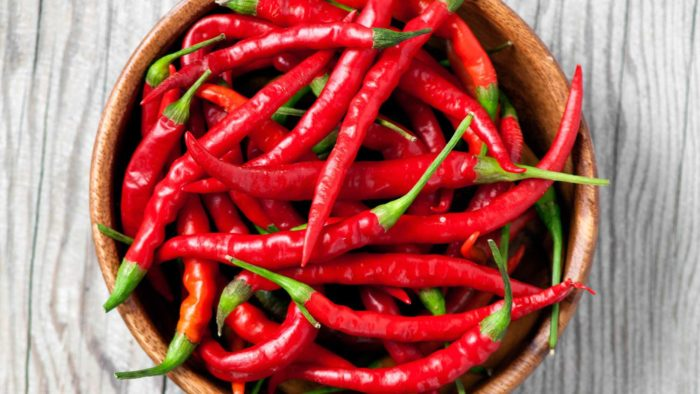 bowl of cayenne peppers