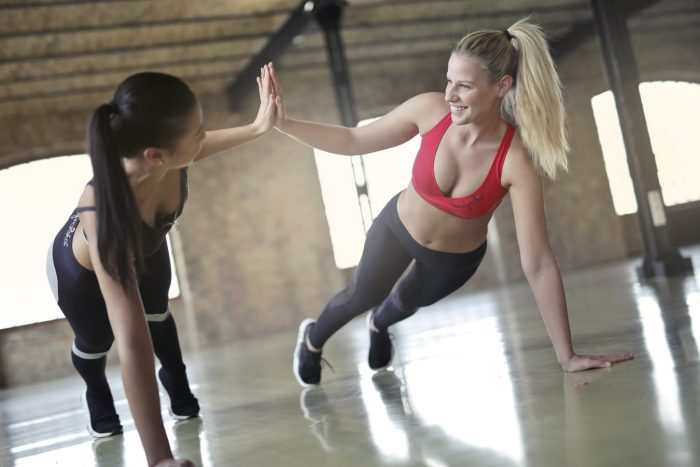 women doing a low impact hiit workout