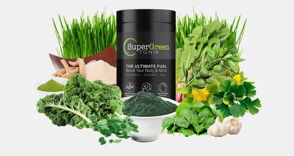 SuperGreen Tonik ingredients banner