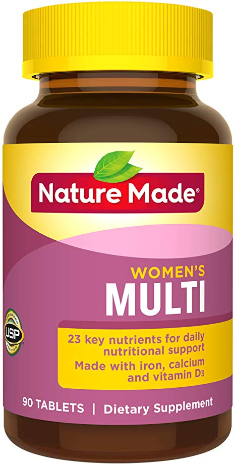 Bottle of Nature Made Women's Multivitamin Tablets