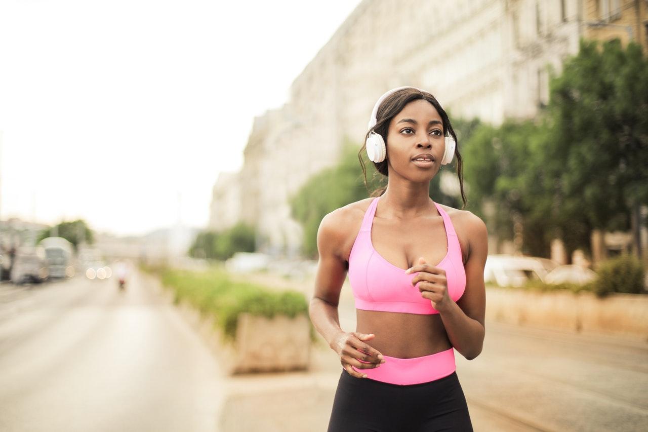 Women exercising outside